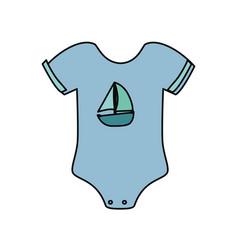 Cute baby suit wear vector