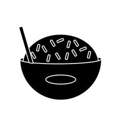 delicious rice food vector image vector image