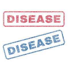 Disease textile stamps vector