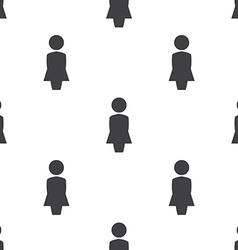 Female profile seamless pattern vector