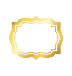 Gold frame beautiful simple golden design vector