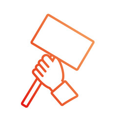 Hand with trafic sign vector