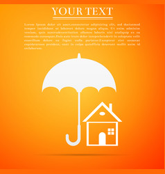 house with umbrella icon real estate symbol vector image