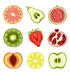 Isolated fruits vector image vector image