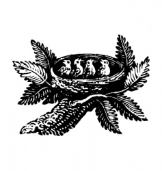 little birds vector image