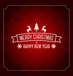 Merry christmas greeting card template- red patten vector