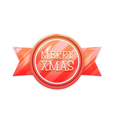 merry xmas christmas banner badge isolated on vector image vector image