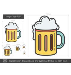 Mug of beer line icon vector