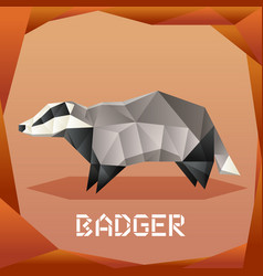 Origami grey badger vector