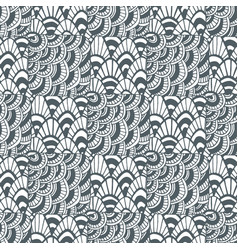 ornamental waves zentangle pattern creative vector image vector image
