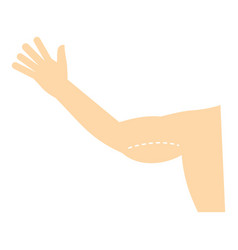 Plastic surgery of arm icon isolated vector