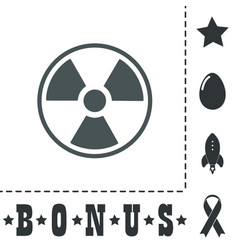 Radiation flat icon vector
