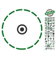 Round area icon with bonus vector