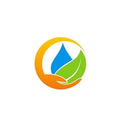 save water ecology abstract logo vector image vector image