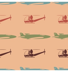 Seamless background with plane vector