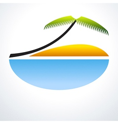 Tropical Vacation Icon vector image vector image