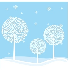 Winter landscape field isolated vector