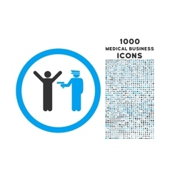 Police arrest rounded icon with 1000 bonus icons vector