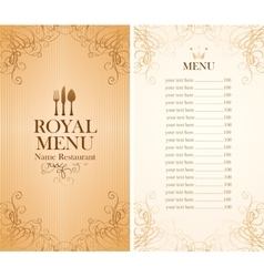 Royal menu for a cafe vector