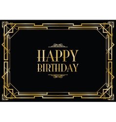 happy birthday gatsby vector image