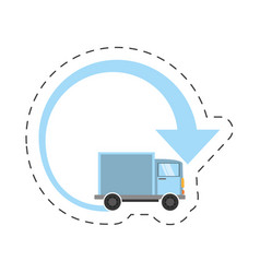 Truck delivery transport worldwide vector