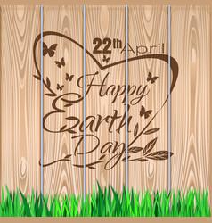 earth day lettering design 22 april vector image