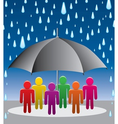 umbrella protection from rain vector image