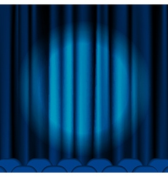 Blue curtains vector