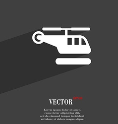Helicopter icon symbol flat modern web design with vector
