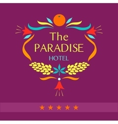 Logo for the hotel the paradise vector