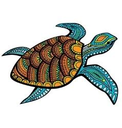 Stylized turtle vector