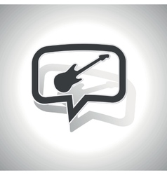Curved guitar message icon vector