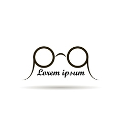 Glasses logo design on a white background vector