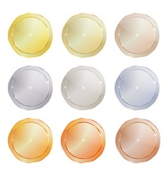 Set of polished metal circular shape made of vector