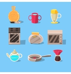 Kitchen appliences set vector