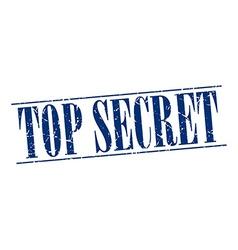 Top secret blue grunge vintage stamp isolated on vector