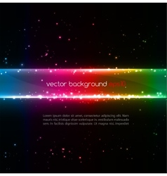 Abstract colorful glowing background vector image