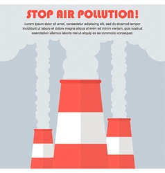 Air pollution flat design vector