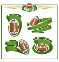 american football balls vector image
