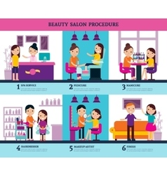 Beauty salon people template vector