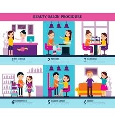 Beauty Salon People Template vector image