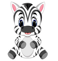 cartoon zebra vector image vector image