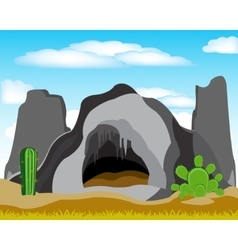 Cave in grief vector
