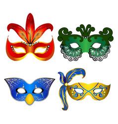 Colorful carnival masks vector