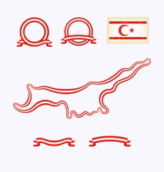 Colors of Northern Cyprus vector image
