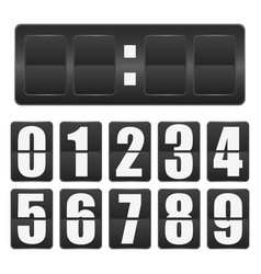 countdown timer mechanical scoreboard blank with vector image