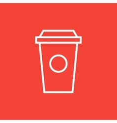 Disposable cup line icon vector