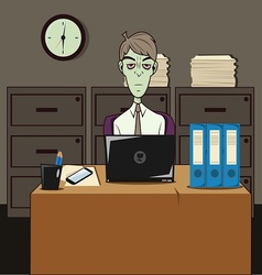 Dozombox The Capitalism Zombie Office vector image