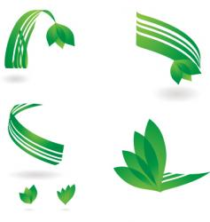 environmental ribbon vector image vector image