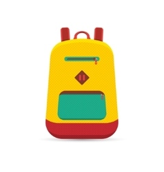 flat backpack vector image
